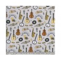 Jazz Grey 100% Digital Cotton Fabric Little Johnny Range 145cm Wide