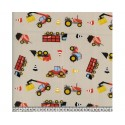 Trucks Beige 100% Digital Cotton Fabric Little Johnny Range 145cm Wide