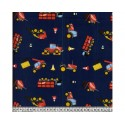 Trucks Blue 100% Digital Cotton Fabric Little Johnny Range 145cm Wide