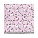 Unicorns Pink 100% Digital Cotton Fabric Little Johnny Range 145cm Wide