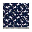 Unicorns Blue 100% Digital Cotton Fabric Little Johnny Range 145cm Wide