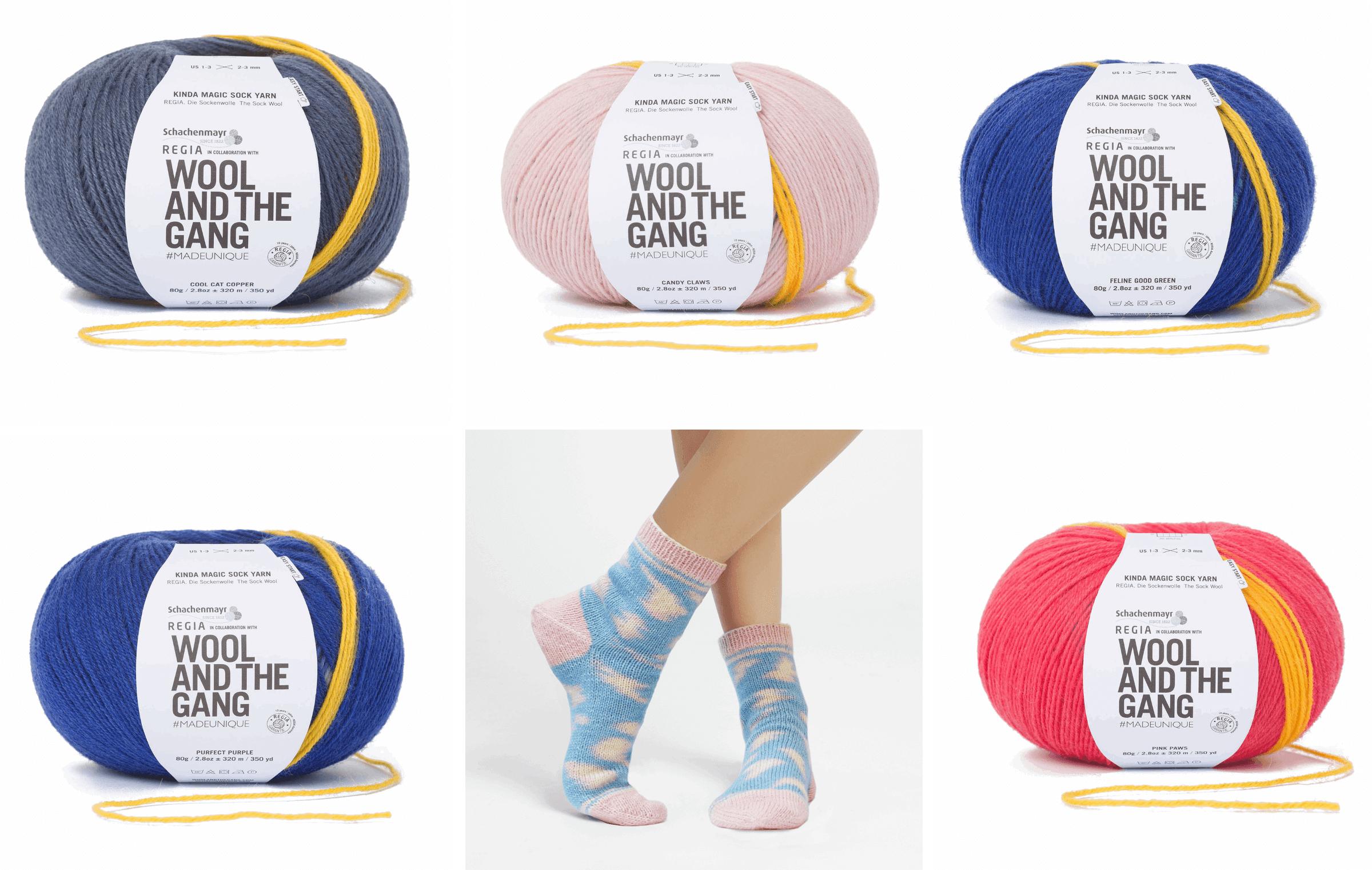 Regia Wool & Gang 4 PLY Kinda Magic Knitting Crochet Yarn Craft Wool 80g Ball 6456 Cool Cat