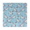 Unicorns Sky 100% Digital Cotton Fabric Little Johnny Range 145cm Wide