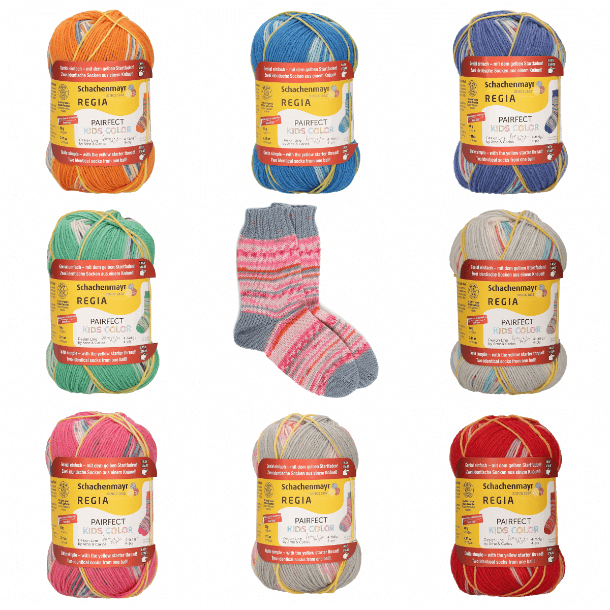 Regia Arne & Carlos Kids Pairfect Socks 4 PLY  Knitting Yarn Craft 60g Ball 2983 Hilde