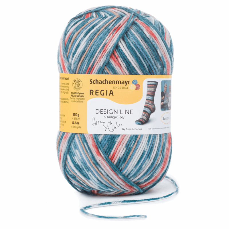 Regia Arne & Carlos Kids Pairfect Socks 4 PLY Knitting Yarn Craft 150g Ball 3657 Summer Night