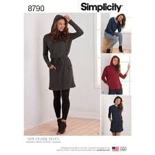 Simplicity 8790 Misses Knit Dresses and Tunics Sewing Pattern