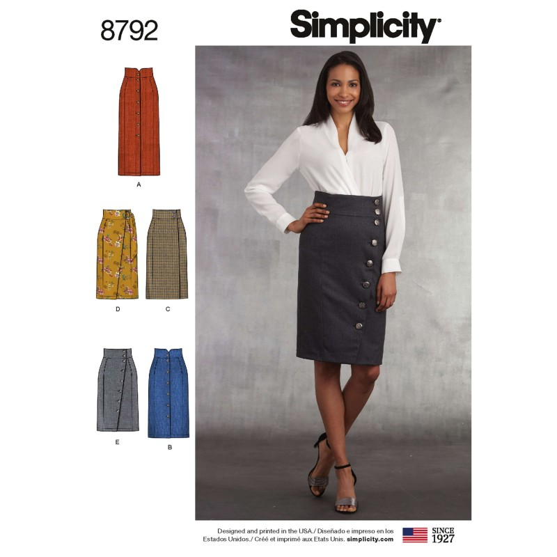Simplicity 8792 Misses Skirts Sewing Patterns