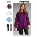 Simplicity 8793 Misses' Tunic With Knit Leggings Sewing Patterns