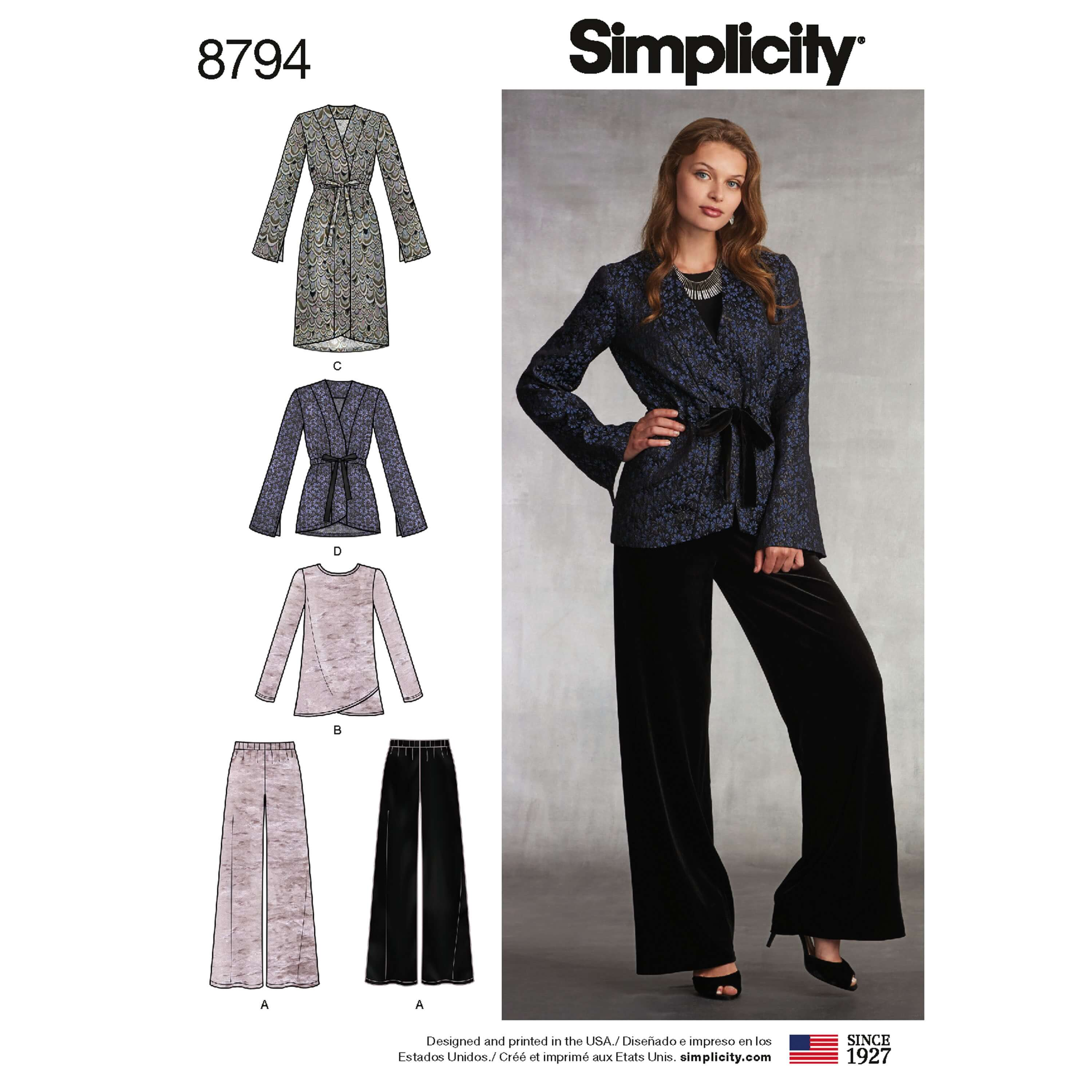 Simplicity 8794 Misses' Jacket Top & Trousers Sewing Pattern