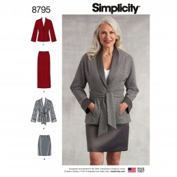 Simplicity 8795 Misses Petite Skirt and Jacket Sewing Pattern