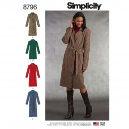 Simplicity 8796 Misses/ Petite Lined Coat Sewing Patterns