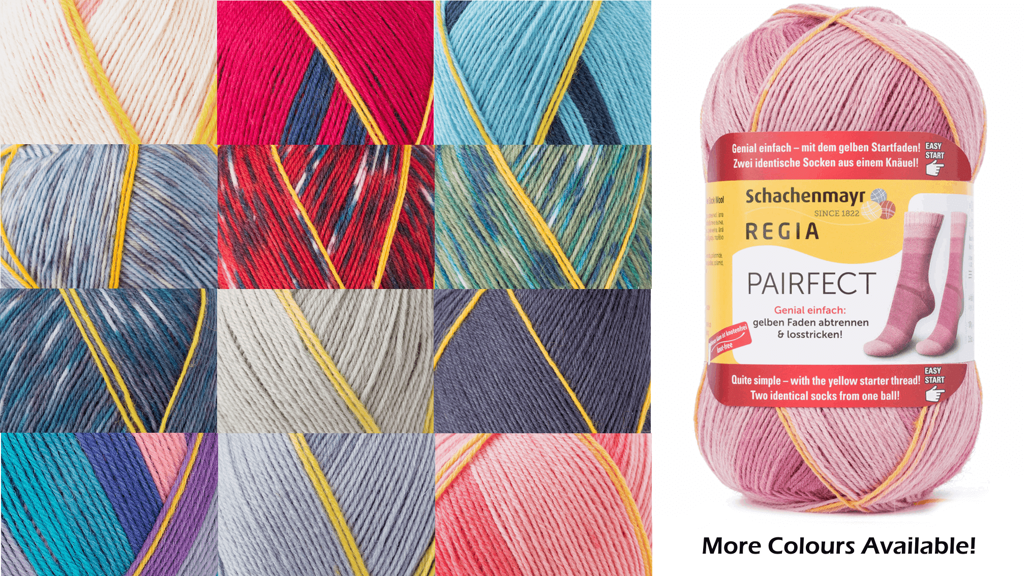 Regia Pairfect Editions 1 2 3 & 4 Socks 4 PLY Knitting Yarn Craft 100g Ball 7126 Edition 2 Granite