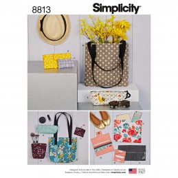 Simplicity Sewing Pattern 8813 Bags & Small Accessories