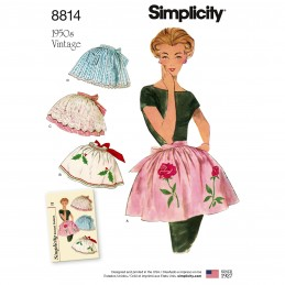 Simplicity 8814 Misses Vintage Aprons 1950s Vintage Sewing Patterns
