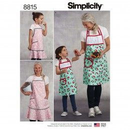Simplicity Pattern 8815 Child's and Misses' Apron Sewing Patterns