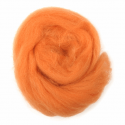 10g 100% Natural Wool Roving Needle Spinning Felting Sewing Craft Fabric Trimits 305 Orange