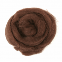 10g 100% Natural Wool Roving Needle Spinning Felting Sewing Craft Fabric Trimits 306 Chocolate