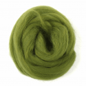 10g 100% Natural Wool Roving Needle Spinning Felting Sewing Craft Fabric Trimits 312 Lime