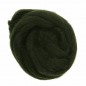 10g 100% Natural Wool Roving Needle Spinning Felting Sewing Craft Fabric Trimits 318 Dark Green