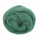 10g 100% Natural Wool Roving Needle Spinning Felting Sewing Craft Fabric Trimits 328 Grass Green