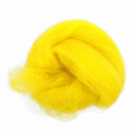 10g 100% Natural Wool Roving Needle Spinning Felting Sewing Craft Fabric Trimits 340 Bright Yellow