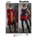 Simplicity Pattern 8825 Misses Knit Warrior Costume Fancy Dress Sewing Patterns