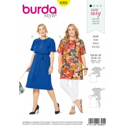 Burda Style Women's Loose Fit Top & Dress Sewing Pattern 6305