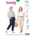 Burda Style Women's Trousers With Yoke Pockets Casual Wear Sewing Pattern 6309