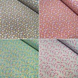 100% Cotton Poplin Fabric Rose & Hubble Sandy's Garden Floral Flowers Daisy