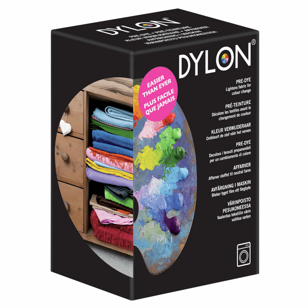 Dylon Fabric Hand Dye Powder 50g Packet For Natural Fibres 19 Colours Salt