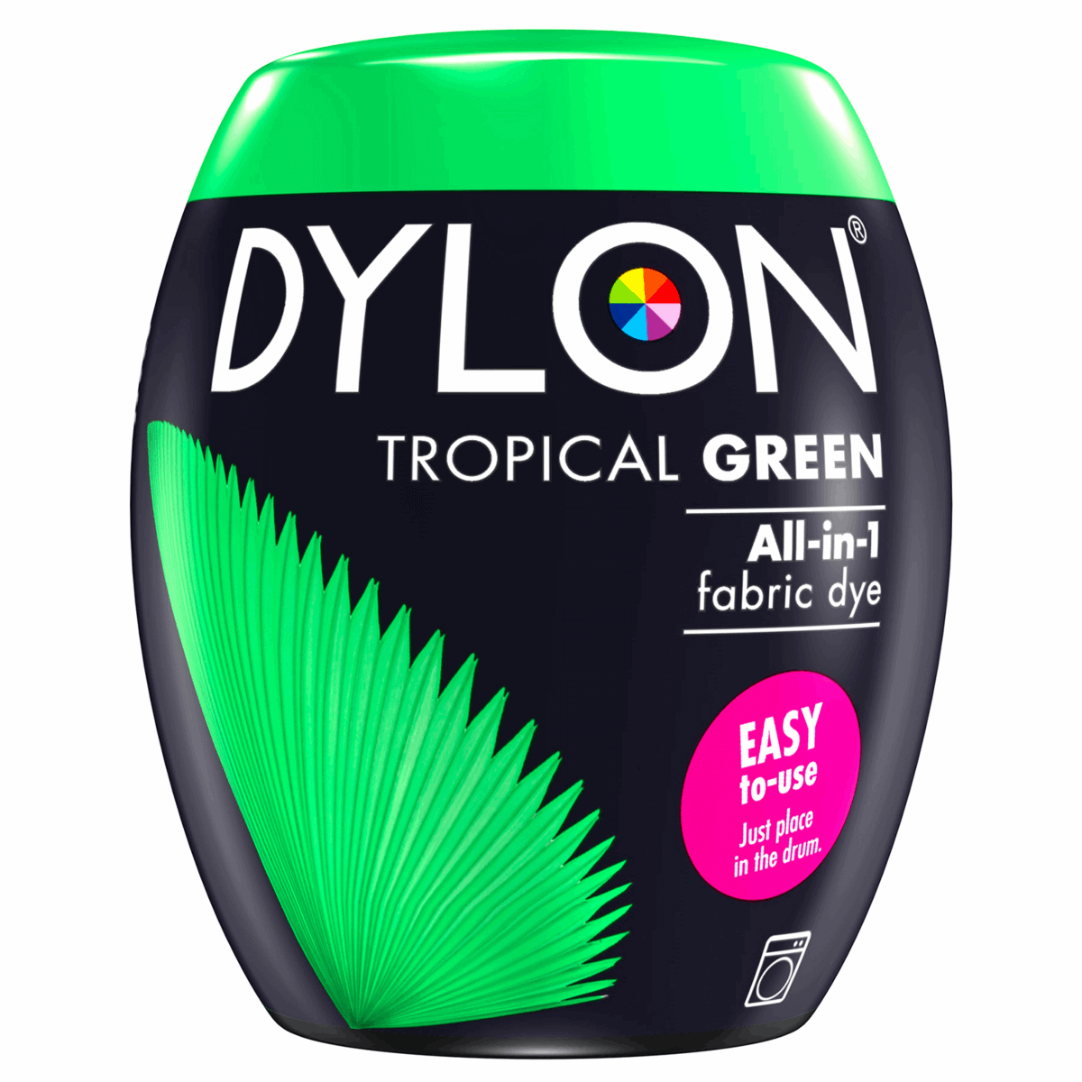 Dylon Machine Fabric & Clothes Dye Pod Powder Wash 350g 03 Tropical Green
