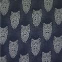 Cotton Elastane Jersey Stretch Fabric Wolf Wolves Knit Animals Wild Blue