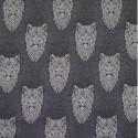 Cotton Elastane Jersey Stretch Fabric Wolf Wolves Knit Animals Wild Grey