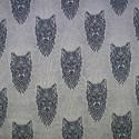 Cotton Elastane Jersey Stretch Fabric Wolf Wolves Knit Animals Wild Marl Blue