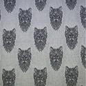 Cotton Elastane Jersey Stretch Fabric Wolf Wolves Knit Animals Wild Mint