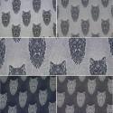 Cotton Elastane Jersey Stretch Fabric Wolf Wolves Knit Animals Wild