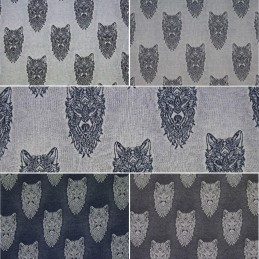 Cotton Elastane Jersey Stretch Fabric Wolf Wolves Knit Animals Wild
