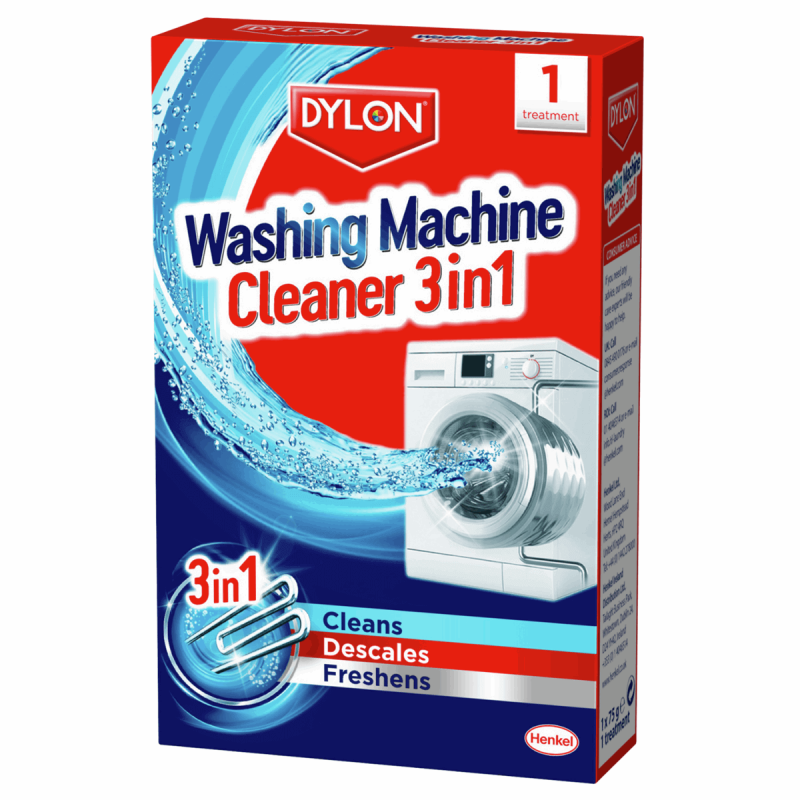 Dylon Machine Cleaner 3 in 1 Cleans Descales & Freshens One Treatment