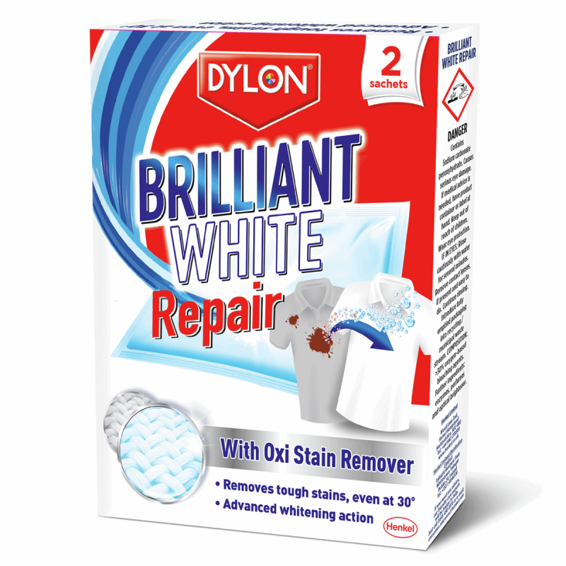 Dylon White Repair & Renovator Advanced Whitening Action White Repair Pack Of 2
