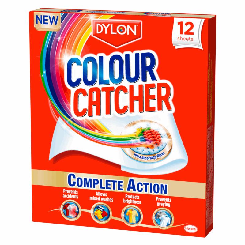 Dylon Colour Catcher & SOS Colour Run Washing Laundry Repair Colour Catcher Pack Of 12