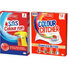 Dylon Colour Catcher & SOS Colour Run Washing Laundry Repair