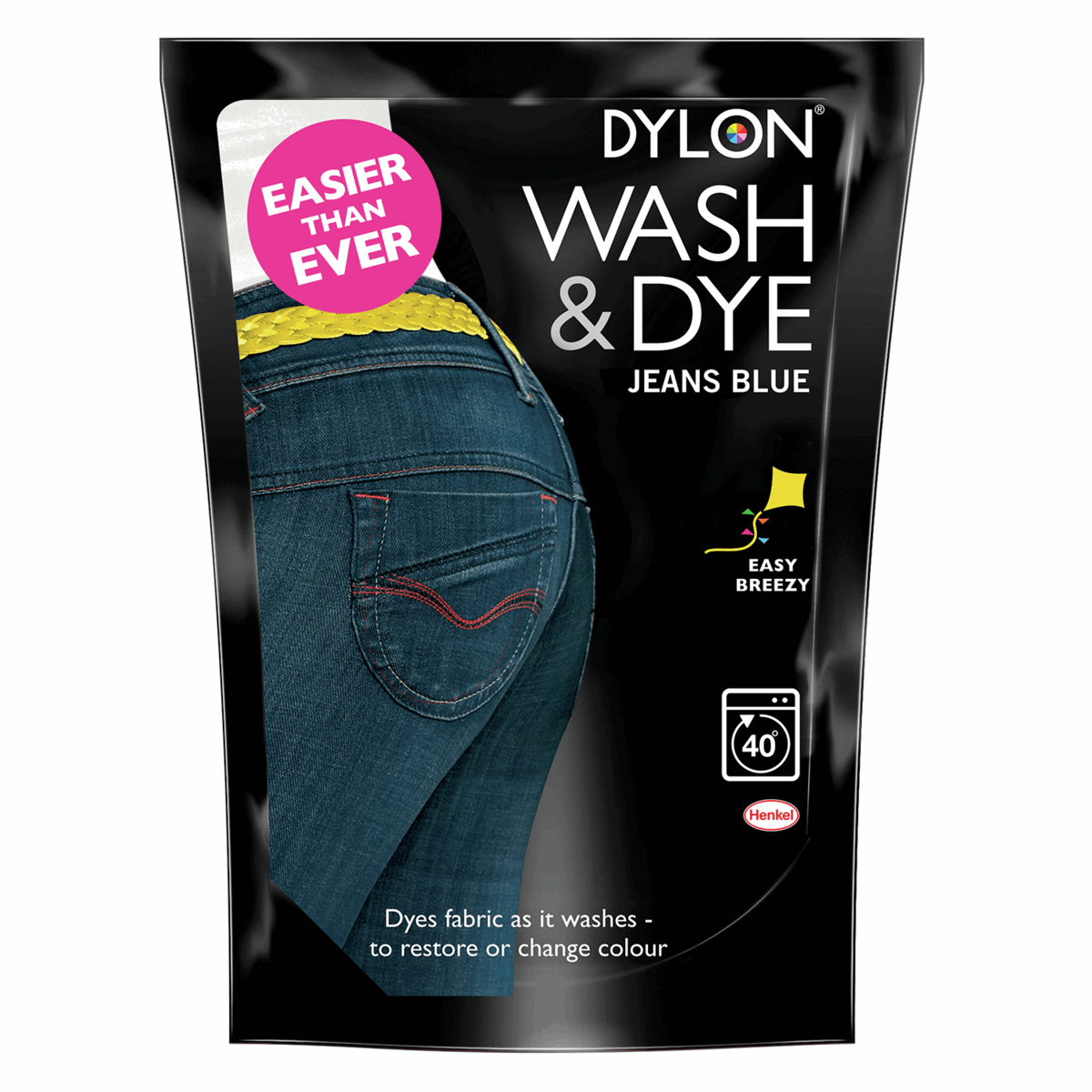 Dylon Wash & Dye Fabric Powder Reviving Faded Colours 350g Black