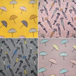 100% Polyester Soft Shell Micro Fleece Backed Umbrella Girl in the Rain