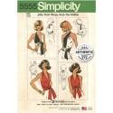 Simplicity Sewing Pattern 5555 Misses Vintage Jiffy Knit Wrap & Tie Halterneck Top 50s
