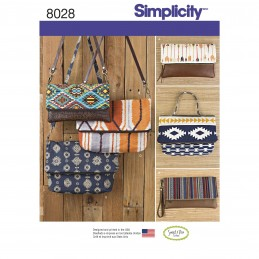 Simplicity Sewing Pattern 8028 Clutch, Wristlet and Purse in Two Sizes Handbag