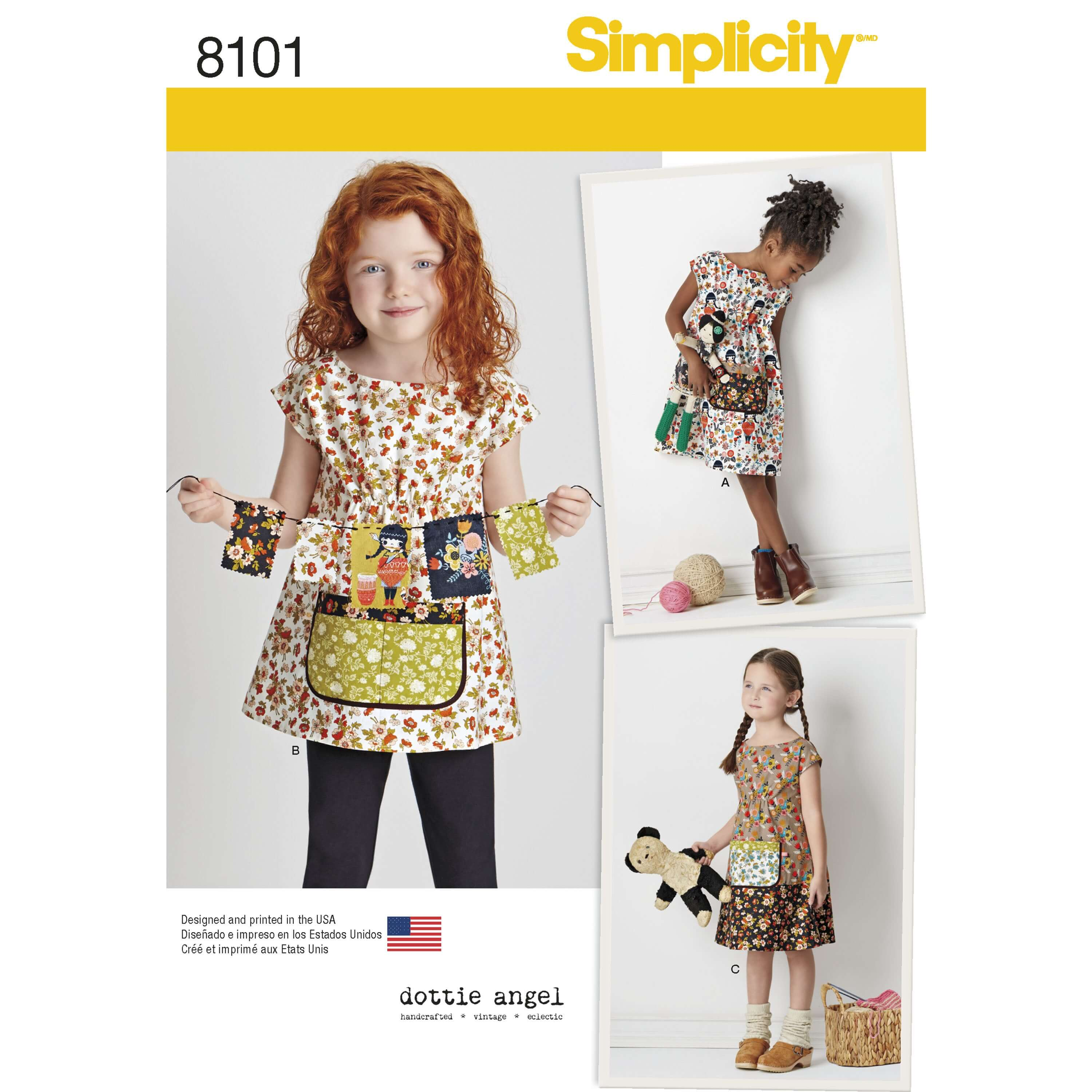 Simplicity Sewing Pattern 8101 Child's Dress and Tunic from Dottie Angel