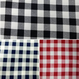 "100% Cotton Corduroy Fabric 1"" Gingham Check Squares"