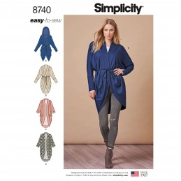 Simplicity Pattern 8740 Misses Easy to Sew Knit Cocoon Cardigan Sewing Pattern