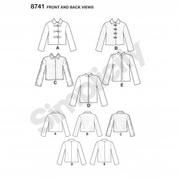 Simplicity Pattern 8741 Misses Boxy Jacket with Design Variations Sewing Pattern