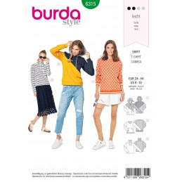 Burda Style Misses Hoodie Sweatshirt Jacket Coat Casual Wear Sewing Pattern 6315